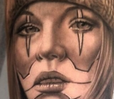 tattoo work, tattoo mini,chicanogirlTattoo_mini.dk.jpg