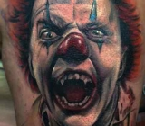 tattoo work, tattoo mini,killerclown2Tattoo_mini.dk.jpg