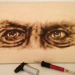 Tattoo Mini Artwork, Burned art, wood burn, eyes