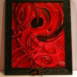 Tattoo Mini Artwork, Oilpaint, bio, frame