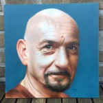 tattoomini, ben kingsley, airbrush