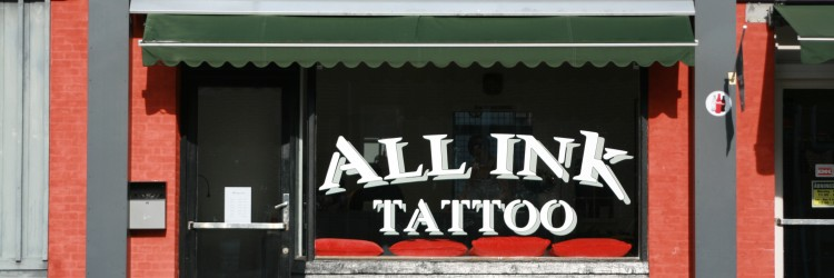 all ink , tattoo shop,